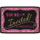 20 Einladungskarten Born To Be Fabulous mit Umschl