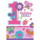 8 Einladungskarten Sweet Birthday Girl mit Umschlä