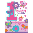 8 Meghívó kártya Sweet Birthday Girl with Env