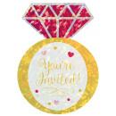 8 Einladungskarten Jumbo Hochzeitsring
