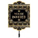 Großhandel Glückwunschkarten: 8 Einladungskarten Glitz & Glam