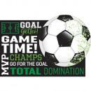 8 invitation cards Goal Getter