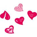 15 drewna rozproszone dekoracji Piękne serca Momen