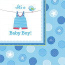 16 cocktail napkins Shower With love - Boy 25 x