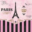 16 serviettes de cocktail A Day In Paris 25 cm