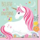 16 servilletas Magical Unicornio 25 cm de papel