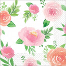 16 Napkins Floral Baby 25 c