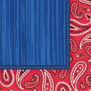 Großhandel Jeanswear: 16 Servietten Bandana & Blue Jeans 33 x 33 cm