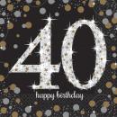 Großhandel Haushaltswaren: 16 Servietten 40 Sparkling Celebration - ...