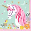 16 napkins Magical Unicorn 33 cm paper