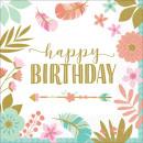 16 Napkins Boho Birthday Girl 33 cm