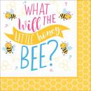 16 szalvéták Mi lesz a méhben? 33 cm