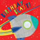 16 Servietten Blast Off Birthday 33 cm