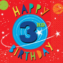 16 Servietten Blast Off Birthday '3rd Birthday' 33