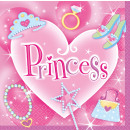 Großhandel Haushaltswaren: 16 Servietten Princess 33 x 33 cm