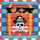 16 szalvéta Pirates Treasure 33 x 33 cm
