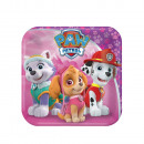 wholesale Licensed Products: 8 plate angular ' Paw Patrol Pink', 18cm