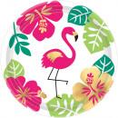 8 assiette Aloha papier 18 cm