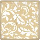 8 Teller Goldene Hochzeit 17,7 cm