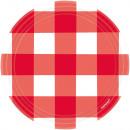 mayorista Regalos y papeleria: 8 plato picnic fiesta redondo, papel, 17,7 cm