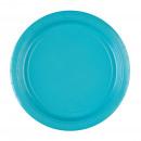 8 papier assiette bleu azur 22,8 cm