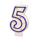 Number candle 5