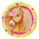 wholesale Crockery: 8 plate Charming Horses 23 cm