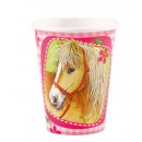 groothandel Stationery & Gifts: 8 kopjes Charming Horses 266 ml