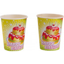 8 cups Happy Birthday 266 ml