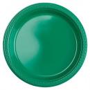 10 Tányér műanyag zöld 17.7 cm