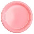 10 Teller Plastik rosa 17,7 cm