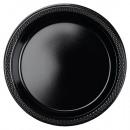 10 Tányér műanyag fekete 17,7 cm