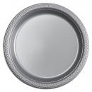10 Tányér műanyag ezüst 17,7 cm