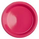 10 plato plástico magenta 17.7 cm