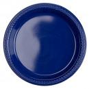 10 plato plastico azul marino 17,7 cm