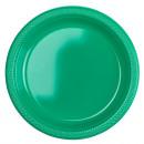 10 plato plástico verde 22.8 cm