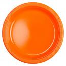 10 Tányér műanyag narancs 22,8 cm