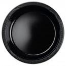 10 Tányér műanyag fekete 22.8 cm