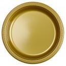 10 assiette plastique or 22,8 cm