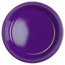 10 plato plástico violeta 22.8 cm