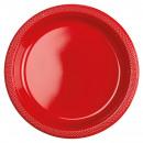 10 plato plástico manzana rojo 22,8 cm