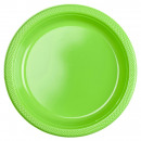 10 plato plástico kiwi 22.8 cm