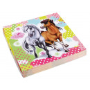 Großhandel Haushaltswaren: 20 Servietten Charming Horses 2 33 x 33 cm