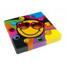 20 szalvéta Smiley Express Yourself 33 x 33 cm