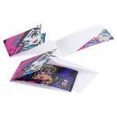 6 Monster High invitación Monster High 2 con sobre