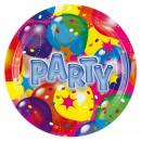 8 plato globo fiesta 2 23 cm