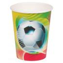 8 tazas de fiesta de fútbol 2 266 ml