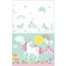 Mantel mágico Unicornio plástico 137 x 259 cm