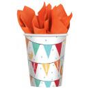 8 cups Barnyard Birthday 266 ml