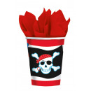 8 Becher Pirate Party 266 ml